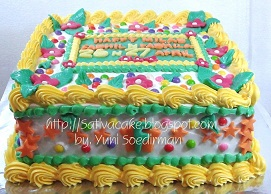 kue ulang tahun pesanan mbak Yeni