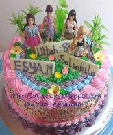 cake ultah barbie for esya