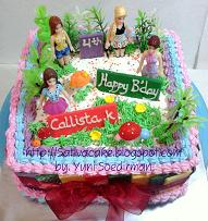 Rainbow cake 'barbie' for Callista