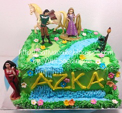 Rapunzel cake ultah