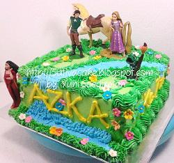 kue ulang tahun Rapunzel