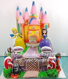 cake ultah putri sofia