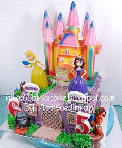 princess sofia cake ultah