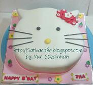cake ultah hellokitty for mbak Ami