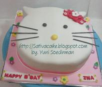 Hellokitty cake for mbak Ami