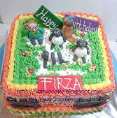 kue ulang tahun  karakter fo  firza