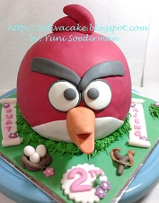 Angry Bird Cake 3D for Ajeng