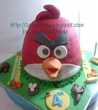 angry bird cake 3D for Leon