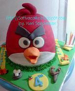 angry bird cake 3D pesanan bu tin-tin