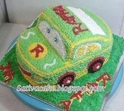 cake ultah bentuk mobil buat Raffa