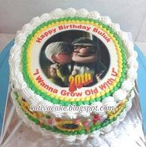 kue ulang tahun dengan edible foto pesanan mbak devi