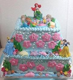 under the see cake pesanan mbak shelli
