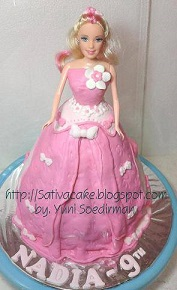 barbie cake 3D for nadia