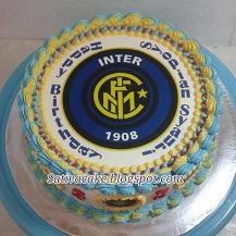cake ultah dengan edible club bola Intermilan