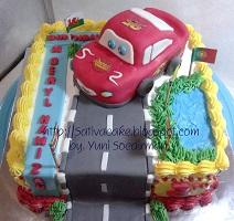 kue ulang tahun the cars buat beryl