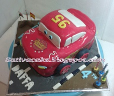mc queen cake 3D for Daffa