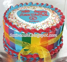 rainbow cake pesanan mbak febby