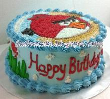 angry bird cake pesanan bu dewi