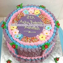 rainbow cake for Azka