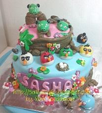 angry bird cake for sasha