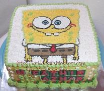 sponge bob cake pesanan mami fathir