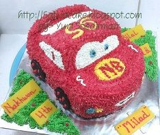 the cars / mc queent cake 3D for Nakhwan & Bilal