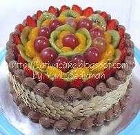 mocca nougat cake for mbak anisa
