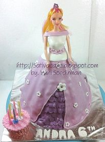 barbie cake 3D for Andra