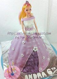 barbie cake 3D pesanan mbak mila