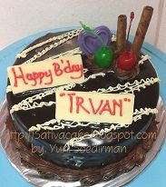 cokelat cake for teh deis