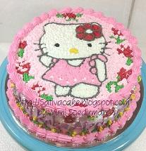 hellokitty cake buat Aiza