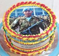 kue ulang tahun dengan edible foto