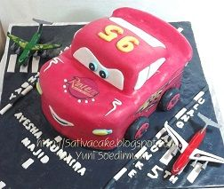The Cars Cake buat Ayesha