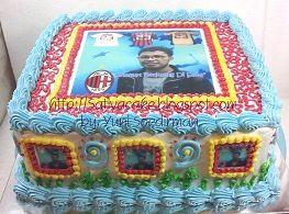 cake ultah dengan edible foto pesanan mbak ika