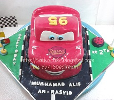 The Cars Cake 3D for Alif