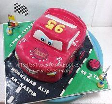 The Cars Cake 3D pesanan mbak dewi