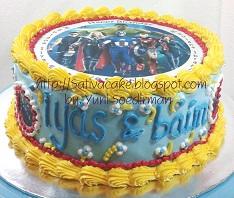 cake ultah dengan edible image pesanan pak Rinto