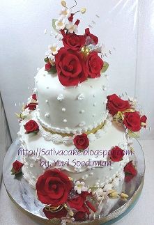wedding cake 2 susun for mbak ika