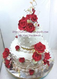 kue pernikahan pesanan mbak ika