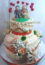 wedding cake 2 susun