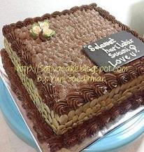 mocca nougat cake for mbak murni