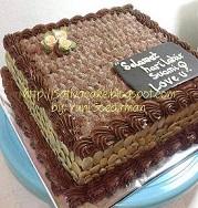 mocca nougat cake pesanan mbak murni