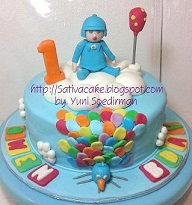 pocoyo cake for Owen