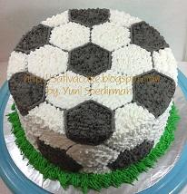 cake ultah bola buat Ahza