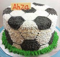 kue ulang tahun bola pesanan mbak dina