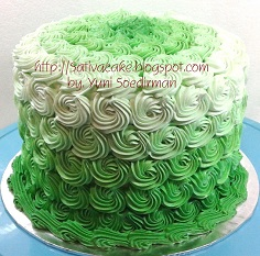ombre cake for mbak mira
