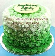 Green Ombre cake pesanan mbak mira