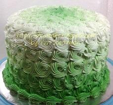 green ombre cake pesanan pak jun