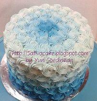 blue ombre cake pesanan mbak dyna