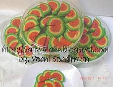 Watermelon Cookies / kukis semangka